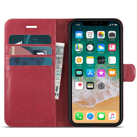 iPhone X (PRODUCT)RED Leather Folio Case.jpg